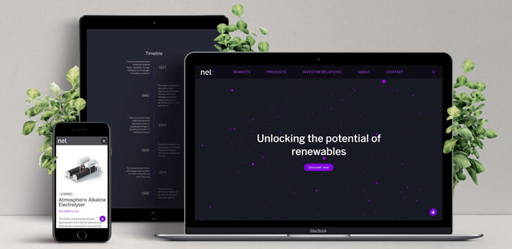 Nel Hydrogen Website Mockup